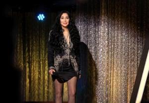 Cher speaks onstage