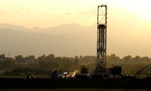 A fracking tower, in Colorado