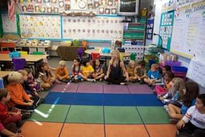 Goldie Hawn at Jefferson elementary school in Redondo Beach, California.