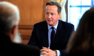 David Cameron at meeting of Community Engagement Forum