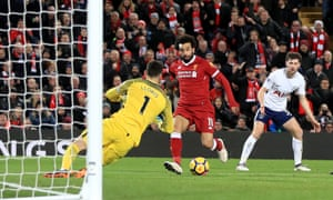 Mohamed Salah's impudent second goal seemed to have given Liverpool all three points