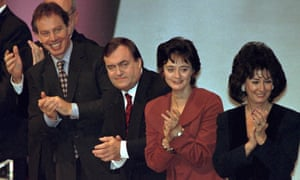 From left: Blair with John Prescott, Cherie Booth and Pauline Prescott, in 1999.