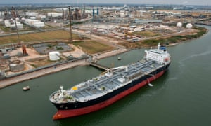 A tanker at the Port of Corpus Christi in Corpus Christi, Texas.