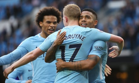 Kevin De Bruyne leads the way as Manchester City thrash Stoke 7-2