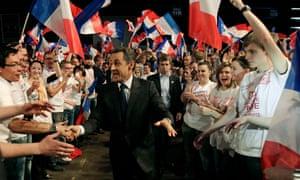 Nicolas Sarkozy at a campaign rally in April 2012