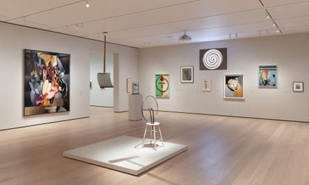 work by Duchamp, Man Ray, Richard Boix and others in the Readymade in Paris and New York room.