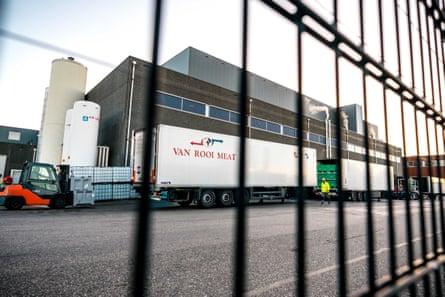 The Van Rooi Meat slaughterhouse in Helmond