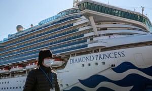 The Diamond Princess cruise ship has been stranded in Yokohama port since passengers were diagnosed with coronavirus.