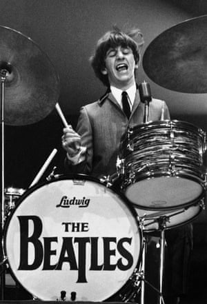 Ringo Starr, in one of a series of shots of The Beatles' first US concert tour
