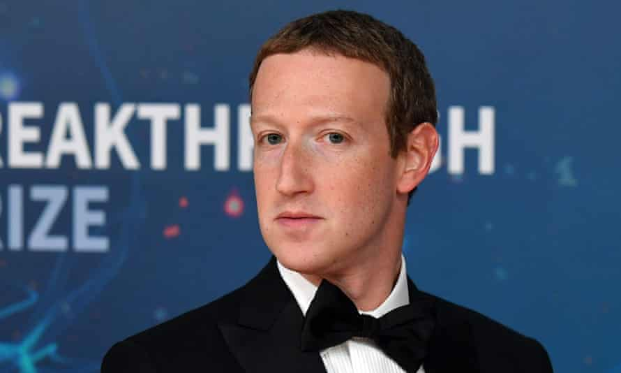 Mark Zuckerberg arrives for the Breakthrough Prize awards ceremony at Nasa Ames Research Center in Mountain View, California, in November.