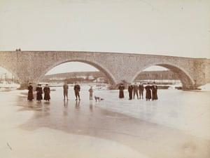The River Dee, Aberdeen, frozen over, c. 1885