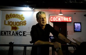Anthony Bourdain attends the Parts Unknown Last Bite live CNN talkshow at Atomic Liquors in Las Vegas in 2013