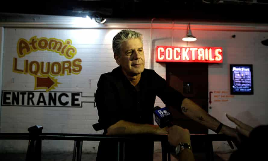 Anthony Bourdain at Parts Unknown live show in Las Vegas in 2013.