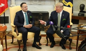 President Trump in the Oval Office of the White House today with the Irish prime minister, Leo Varadkar.