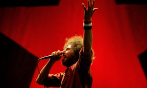 Zack de la Rocha performs in Rage Against The Machine. The band says Farage's podcast brazenly exploits their name.