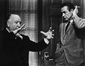 Connery with Alfred Hitchcock on the set of Marnie in 1964.