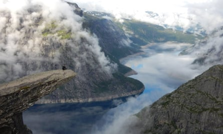 The Trolltunga shelf rock offers one of Norway's most iconic views.
