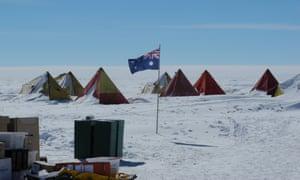 Australian ice core drilling camp at Aurora Basin North