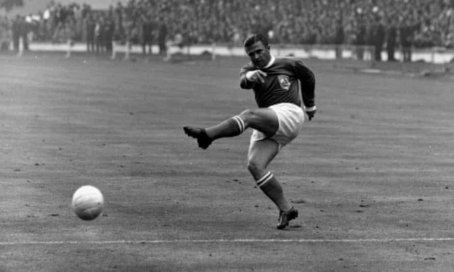 Ferenc Puskas scored all three of his team's goals during the charity match organised by Bankfield House