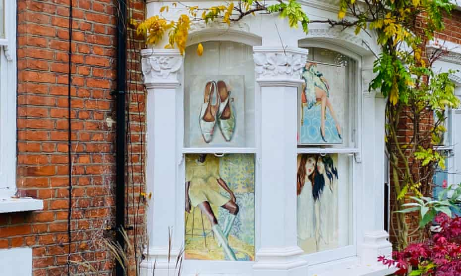 Pavement Picassos The Locked Down Artists Showing Work In Their Windows Art The Guardian