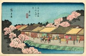 Moriyama Station, 1837/38 (Hiroshige, plate 68)