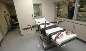 The death chamber at the Oklahoma State Penitentiary in McAlester.