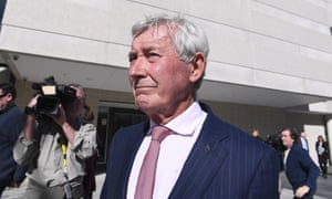 Lawyer Bernard Collaery leaves the supreme court in Canberra on Tuesday.