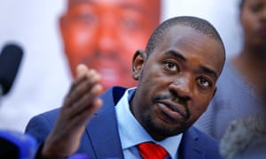 Nelson Chamisa, the MDC leader