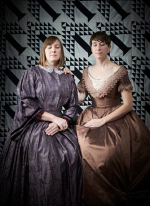 Celia and Olivia Plender Raising the Fox Sisters, 2018, by Olivia Plender.