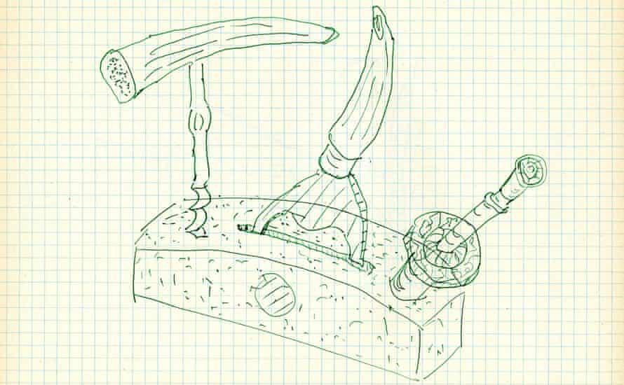 Drawings (4), by Eric Bainbridge