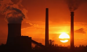 The sun sets behind the Tata Steel processing plant