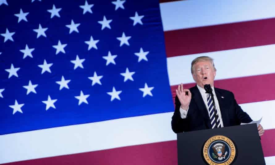 Donald Trump speaks in North Carolina last month.