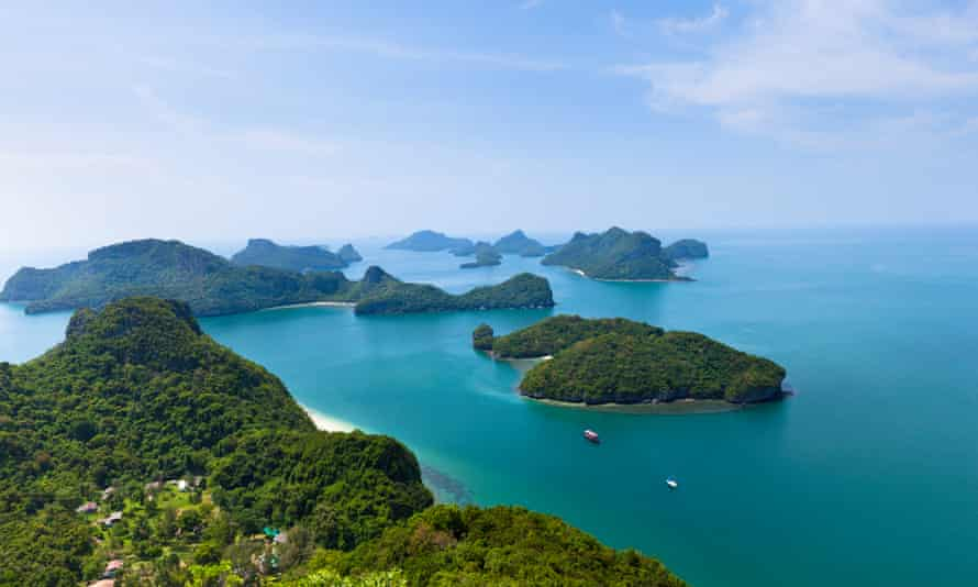 The popular tourist island of Ko Phangan in Thailand, where Agama is located