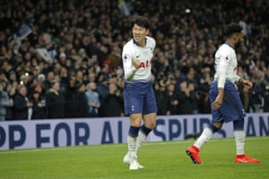 The South Korean looks pretty chuffed after scoring his 17th goal of the season.