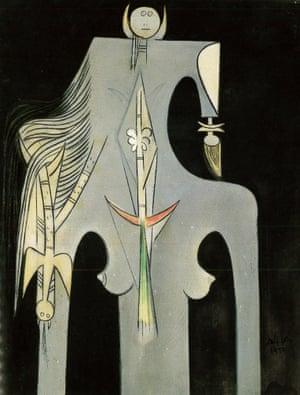 The Fiancée 1, 1950 by Wilfredo Lam.