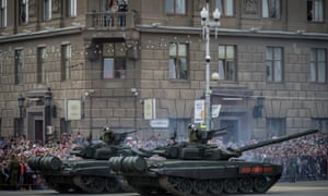 T-90 tanks at the 9 May Victory Day parade.