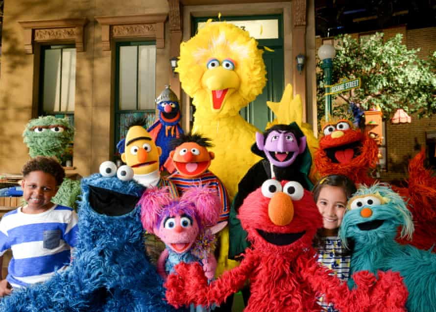 The cast of Sesame Street.