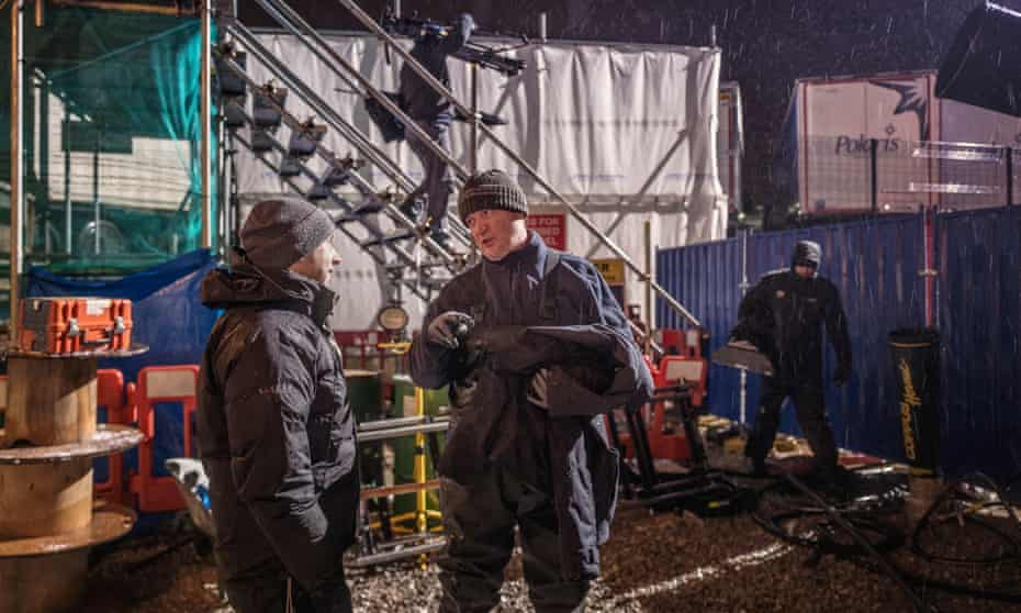 "Director David Kester and ""Phelan"" Connor McIntyre."