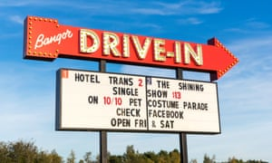 Drive-In Move Billboard Sign in Bangor Maine