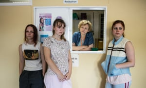 Molly Windsor, Liv Hill, Maxine Peake and Ria Zmitrowicz in Three Girls, BBC1