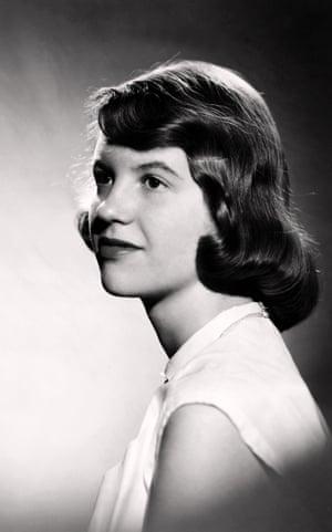 Studio photograph of Sylvia Plath (with brown hair) 1954