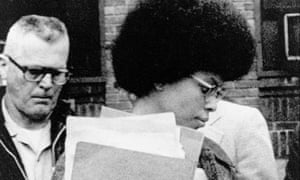 Assata Shakur, also known as Joanne Chesimard, member of the Black Panther Party and Black Liberation Army, leaves Middlesex county courthouse in New Brunswick, New Jersey, in 1977.