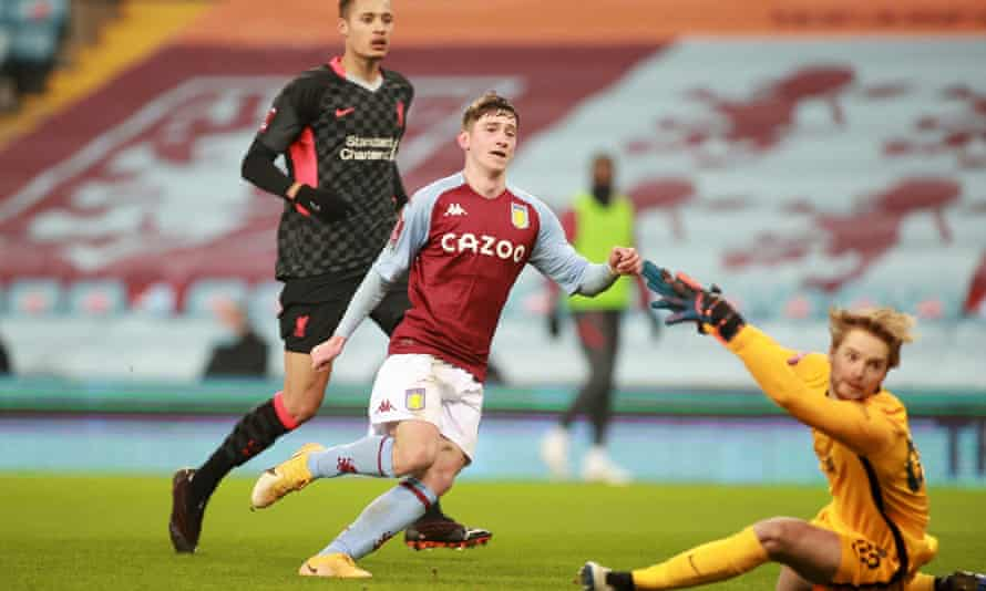 Louie Barry equalises for Villa.