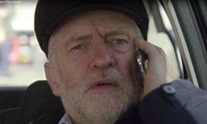 Jeremy Corbyn in his Lenin-style cap in Jeremy Corbyn: The Outsider.