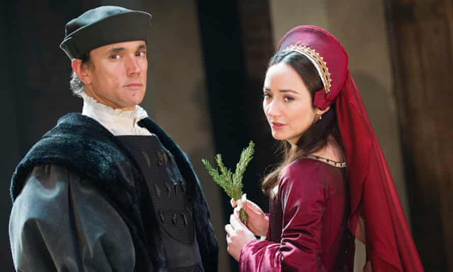 Ben Miles (Thomas Cromwell) and Lydia Leonard (Anne Boleyn) in Wolf Hall.