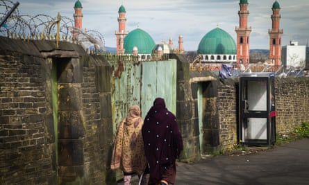 'These are scary times,' according to Bana Gora of Bradford Muslim Women's Council. Above, the city's Tul-Islam mosque.