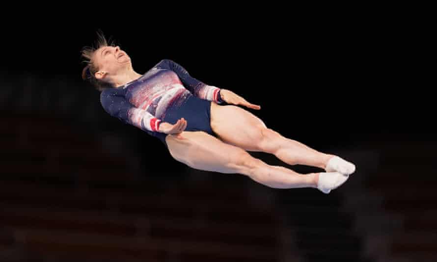 Briony Page gana el bronce en la final de trampolín femenino