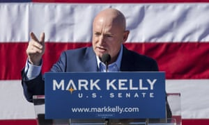 Mark Kelly speaks in Tucson, Arizona.