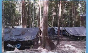 A police photo of another enclosure for migrants