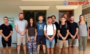 Britons arrested for pornographic dancing in Cambodia